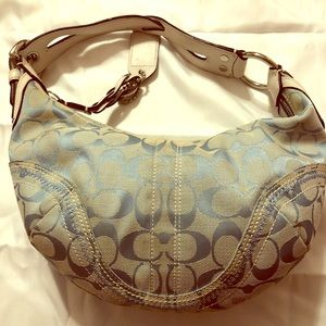 Coach Canvas Baby Blue Women's Bag